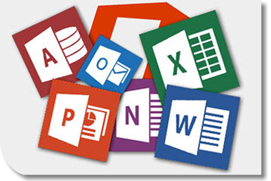 icones de la suite microsoft office word excel powerpoint outlook